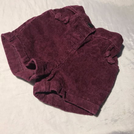 12-18 Month Burgundy Shorts